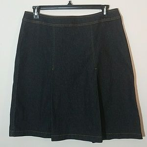 BISOU BISOU midi Jean pleated skirt (JCP)